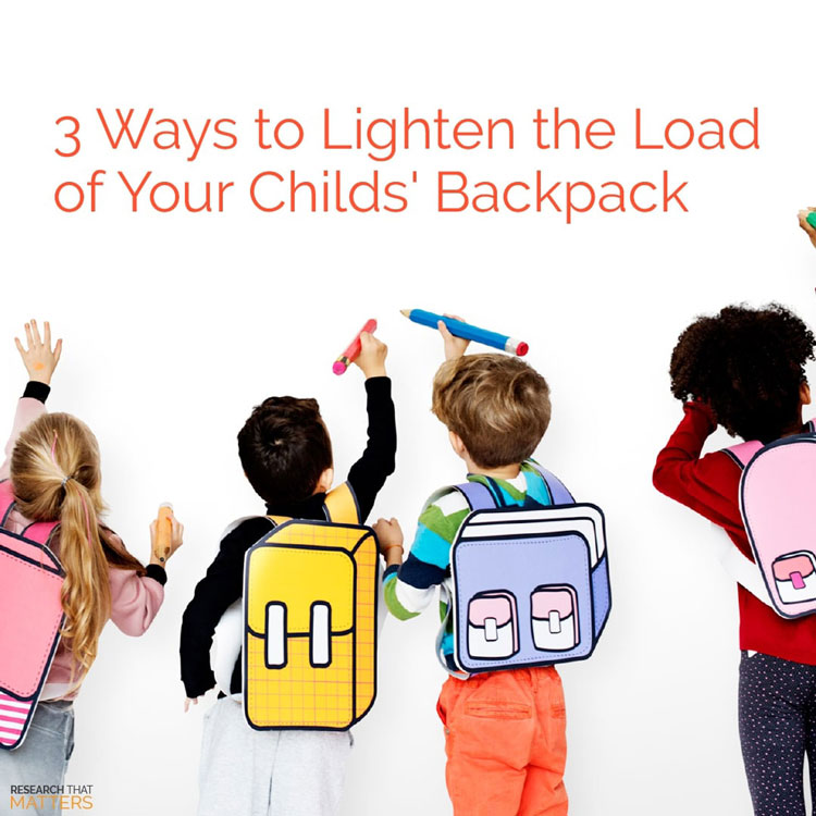 Lighten The Load Of Your Child's Backpack in Vienna VA